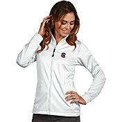 Antigua Women's South Carolina Gamecocks White Performance Golf Jacket