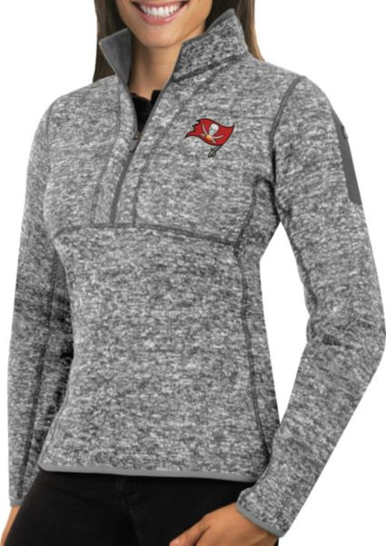 Antigua Women s Tampa Bay Buccaneers Fortune Grey Pullover Jacket.  noImageFound 778294a22