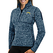 Antigua Women's Los Angeles Chargers Fortune Navy Pullover Jacket