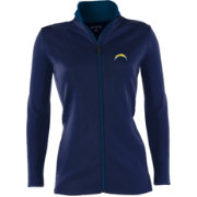 Antigua Women's Los Angeles Chargers Leader Navy Full-Zip Jacket