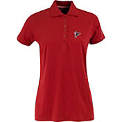 Antigua Women's Atlanta Falcons Red Spark Polo