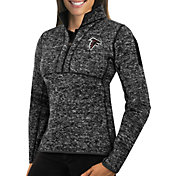 Antigua Women's Atlanta Falcons Fortune Black Pullover Jacket