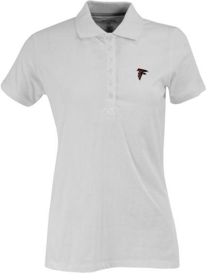 fa2f5c5aa Antigua Women s Atlanta Falcons White Spark Polo. noImageFound