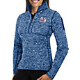 Antigua Women's New York Giants Fortune Blue Pullover Jacket