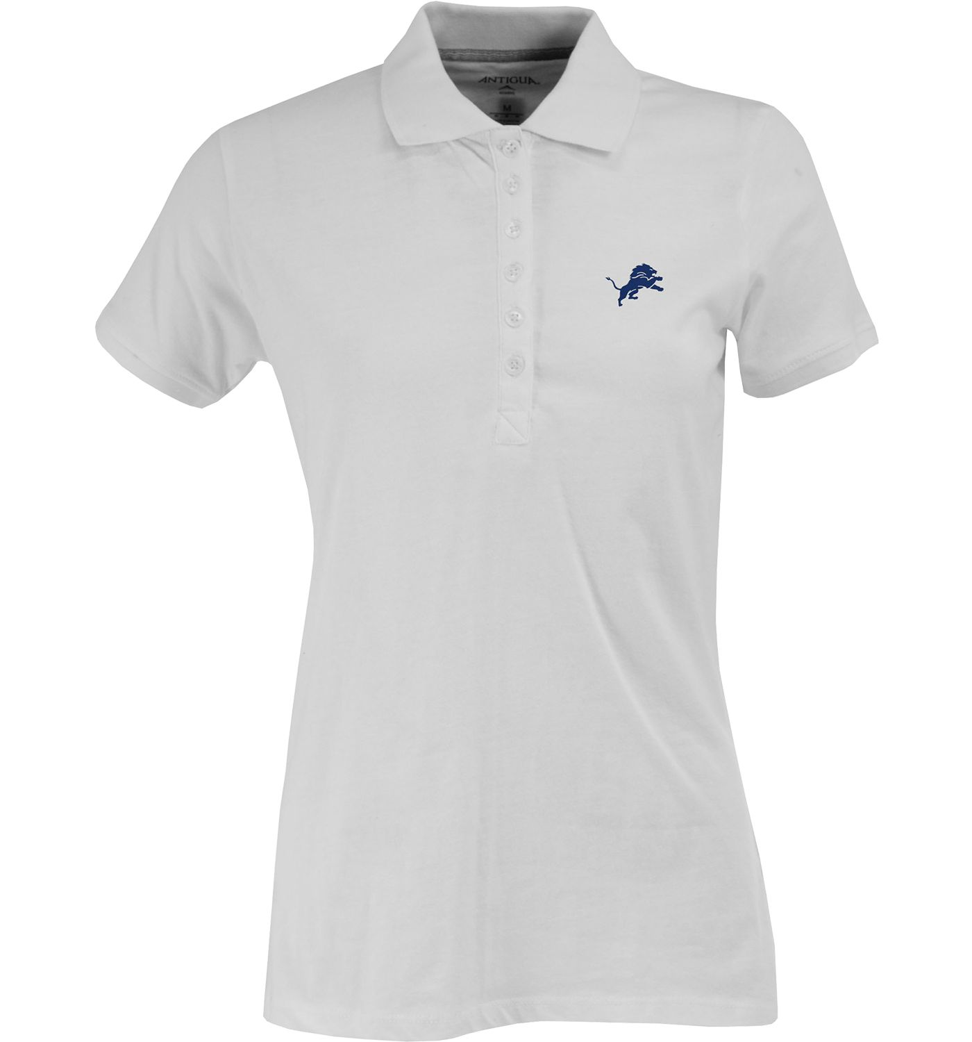 Antigua Women's Detroit Lions White Spark Polo