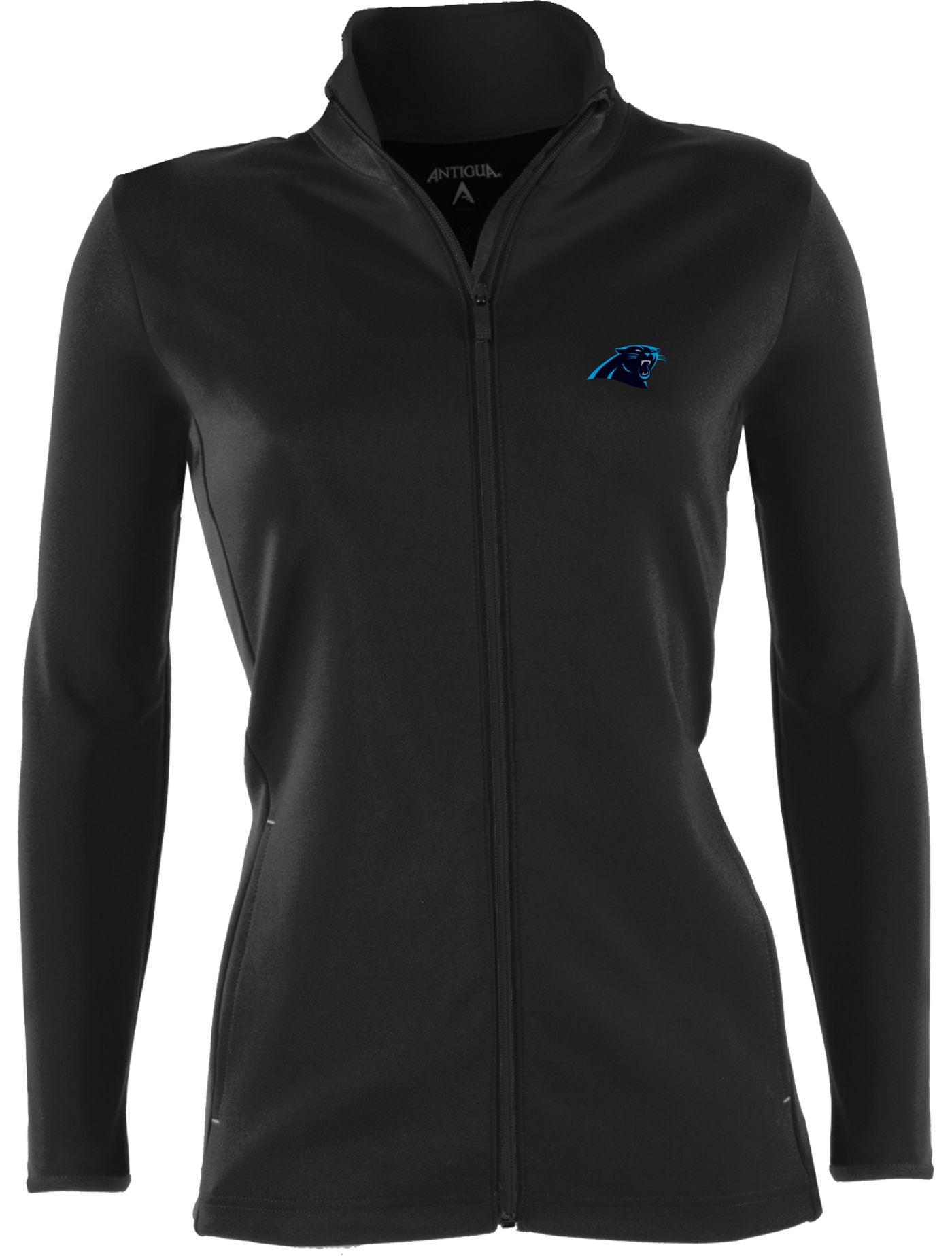 Antigua Women's Carolina Panthers Leader Black Full-Zip Jacket