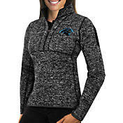 Antigua Women's Carolina Panthers Fortune Black Pullover Jacket
