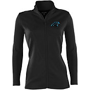 Antigua Women's Carolina Panthers Leader Black Jacket