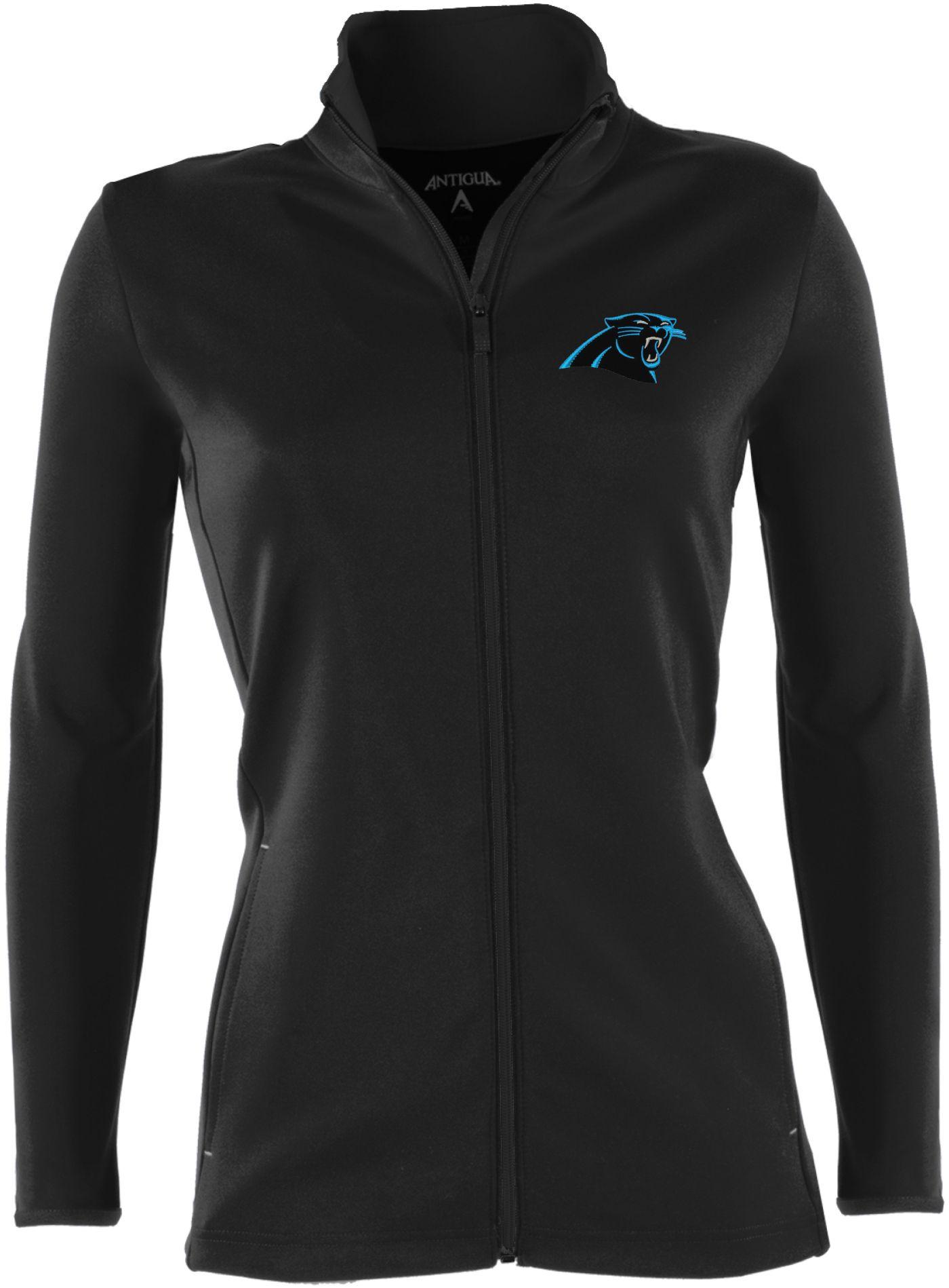 Antigua Women's Carolina Panthers Leader Black Jacket