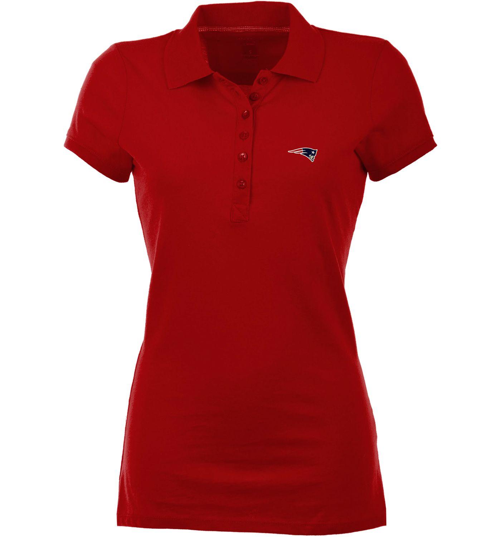 Antigua Women's New England Patriots Red Spark Polo