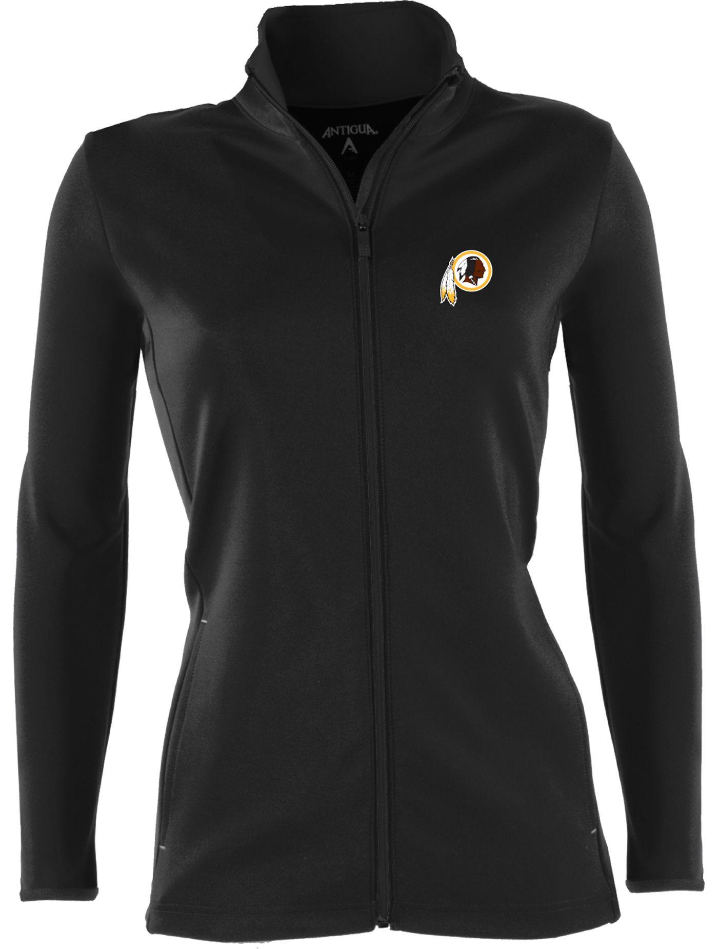 Antigua Women's Washington Redskins Leader Full-Zip Black Jacket