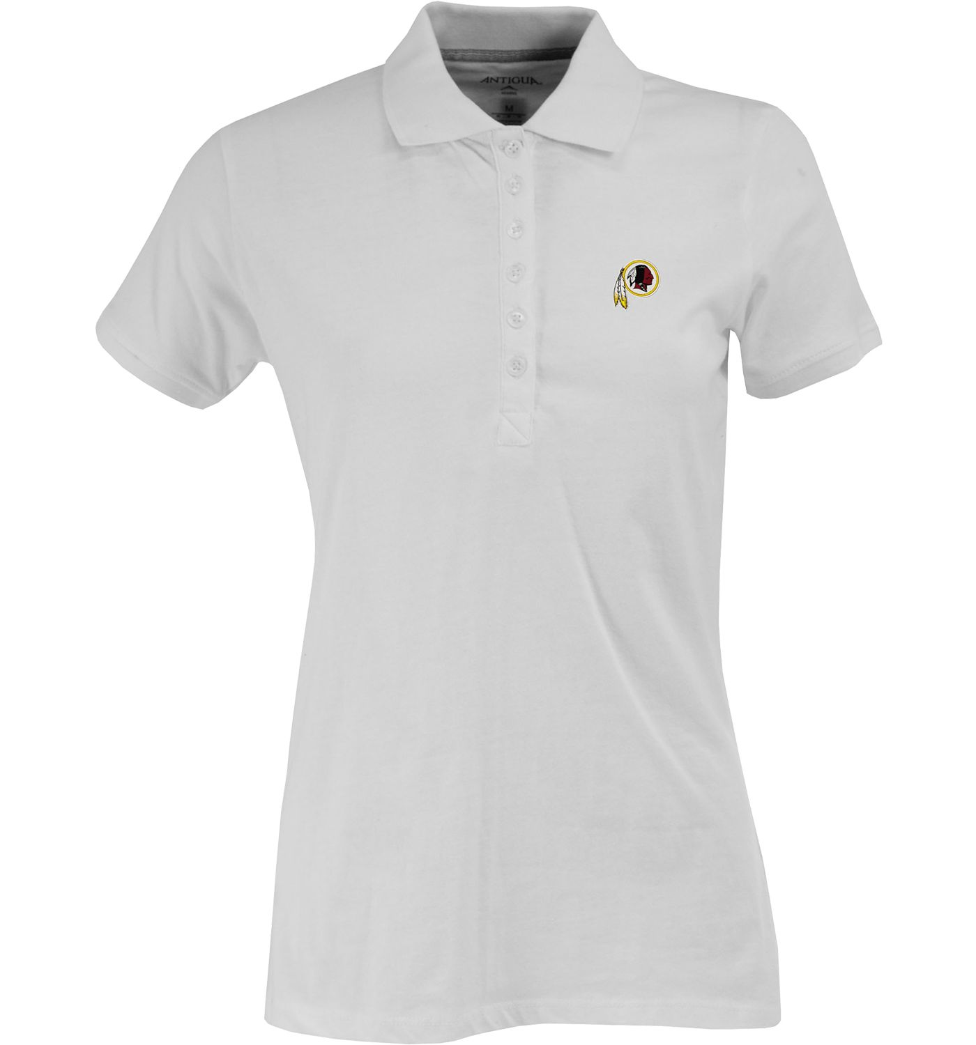 Antigua Women's Washington Redskins White Spark Polo