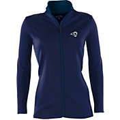 Antigua Women's Los Angeles Rams Leader Navy Full-Zip Jacket