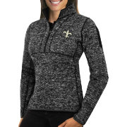 Antigua Women's New Orleans Saints Fortune Black Pullover Jacket
