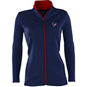 Antigua Women's Houston Texans Leader Navy Full-Zip Jacket