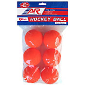 A&R Sports Low Bounce Warm Weather Street Hockey Balls - 6 Pack