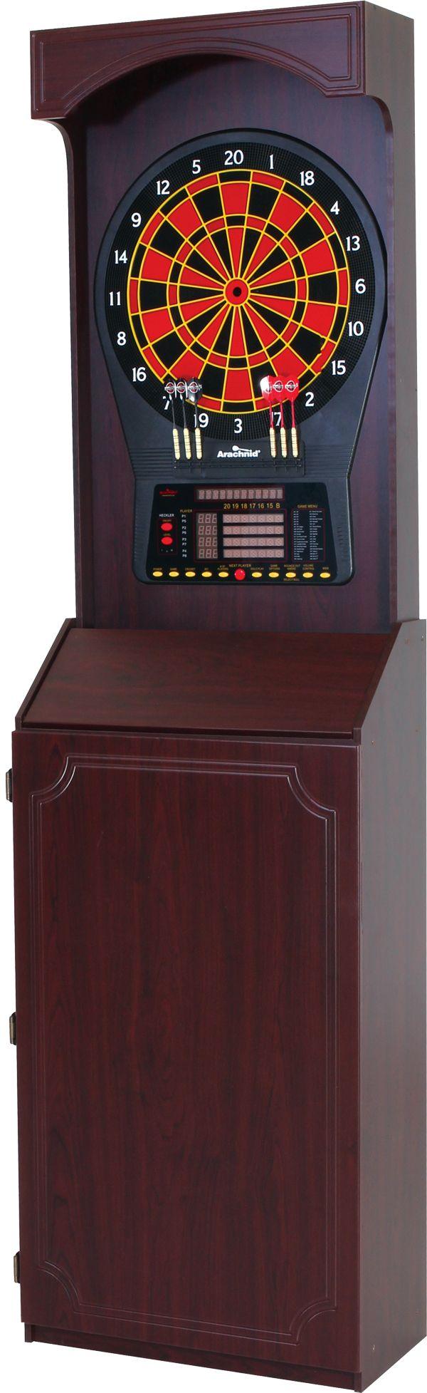 Attirant Arachnid CricketPro 800 Electronic Dartboard Cabinet