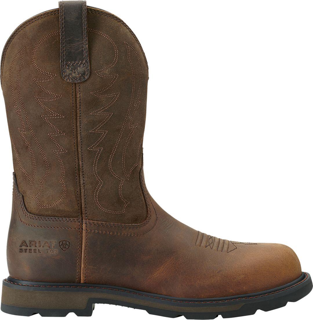 e850193496f Ariat Men's Groundbreaker Pull-On Steel Toe Western Boots