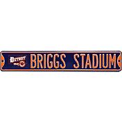 Authentic Street Signs Detroit Tigers 'Briggs Stadium' Street Sign