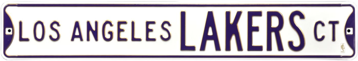 Authentic Street Signs Los Angeles Lakers White Court Sign
