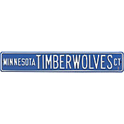 Authentic Street Signs Minnesota Timberwolves Court Sign