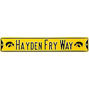 Authentic Street Signs Iowa Hawkeyes 'Hayden Fry Way' Street Sign