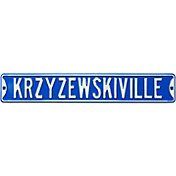 Authentic Street Signs Duke Blue Devils 'Krzyzewskiville' Court Sign