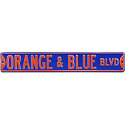 Authentic Street Signs Florida Gators Blvd Orange/Blue Sign