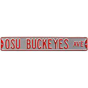 Authentic Street Signs Ohio State 'OSU Buckeyes Ave' Silver Sign