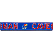 Authentic Street Signs Kansas Jayhawks 'Man Cave' Street Sign