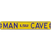 Authentic Street Signs LSU Tigers 'Man Cave' Street Sign