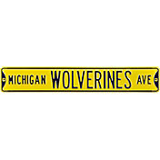 Authentic Street Signs Michigan Wolverines Avenue Yellow Sign