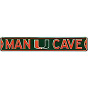 Authentic Street Signs Miami Hurricanes 'Man Cave' Street Sign