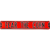 Authentic Street Signs Nebraska Cornhuskers 'Fear the Corn' Street Sign