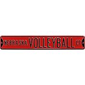 Authentic Street Signs Nebraska Cornhuskers 'Nebraska Volleyball Ct' Street Sign