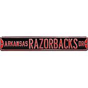 Authentic Street Signs Arkansas Razorbacks Drive Black Sign