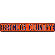 Authentic Street Signs Denver Broncos 'Broncos Country' Street Sign