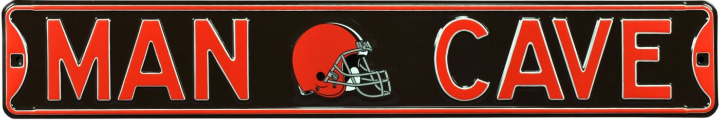 Authentic Street Signs Cleveland Browns 'Man Cave' Street Sign