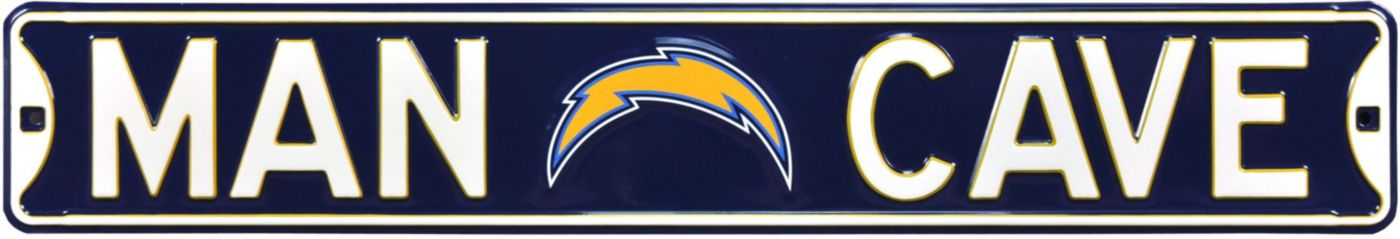 Authentic Street Signs Los Angeles Chargers 'Man Cave' Street Sign