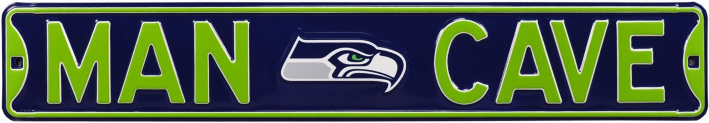 Authentic Street Signs Seattle Seahawks 'Man Cave' Street Sign