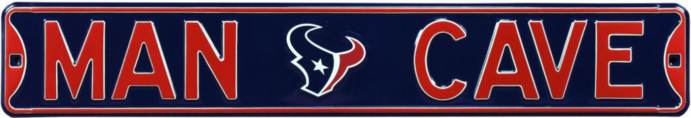 Authentic Street Signs Houston Texans 'Man Cave' Street Sign