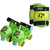 Teenage Mutant Ninja Turtles Boys' Roller Skates and Knee Pads
