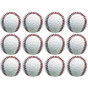 Baden Dimpled White Training Baseballs - 12 Pack
