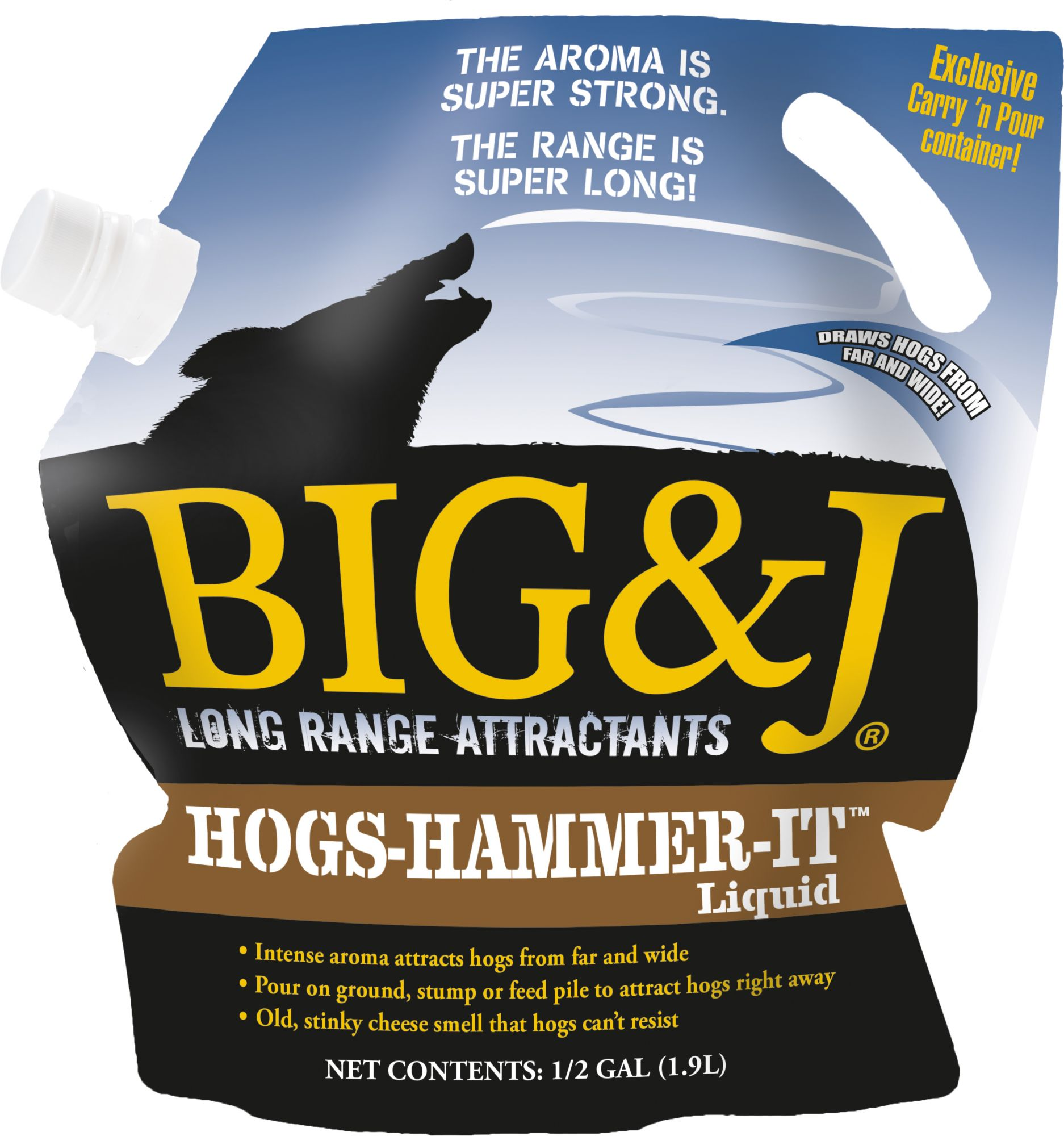 Big & J Hogs-Hammer-It Liquid Attractant, fire