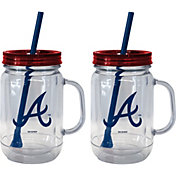 Boelter Atlanta Braves 20oz Handled Straw Tumbler 2-Pack