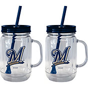 Boelter Milwaukee Brewers 20oz Handled Straw Tumbler 2-Pack