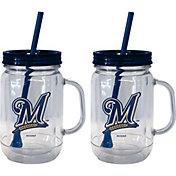 Boelter Milwaukee Brewers 20oz Handled Straw Tumbler 2-Pack