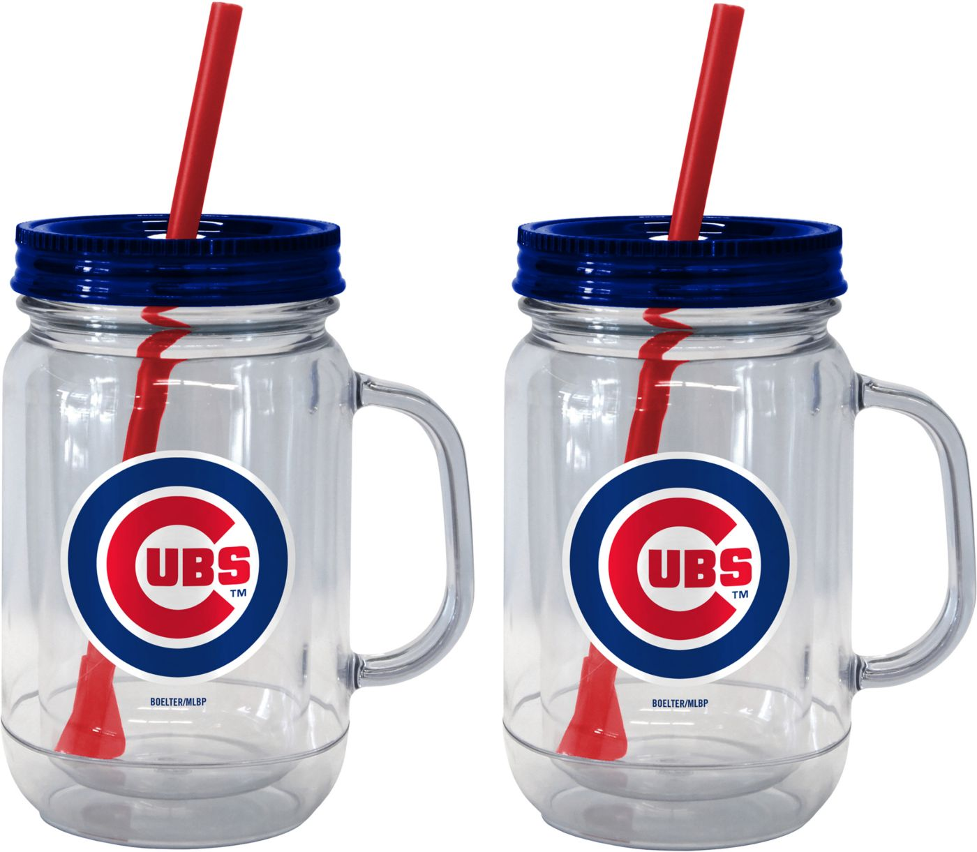 Boelter Chicago Cubs 20oz Handled Straw Tumbler 2-Pack