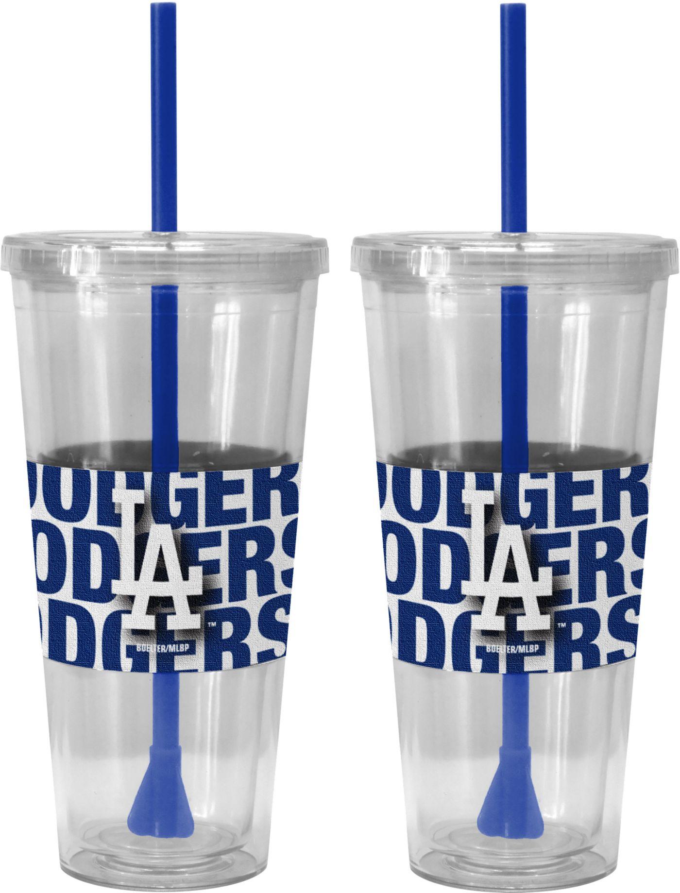 Boelter Los Angeles Dodgers Bold Sleeved 22oz Straw Tumbler 2-Pack
