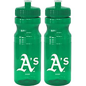 Boelter Oakland Athletics 24oz Squeeze Water Bottle 2-Pack